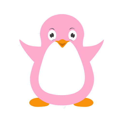 Perla the Pink Penguin Character Image